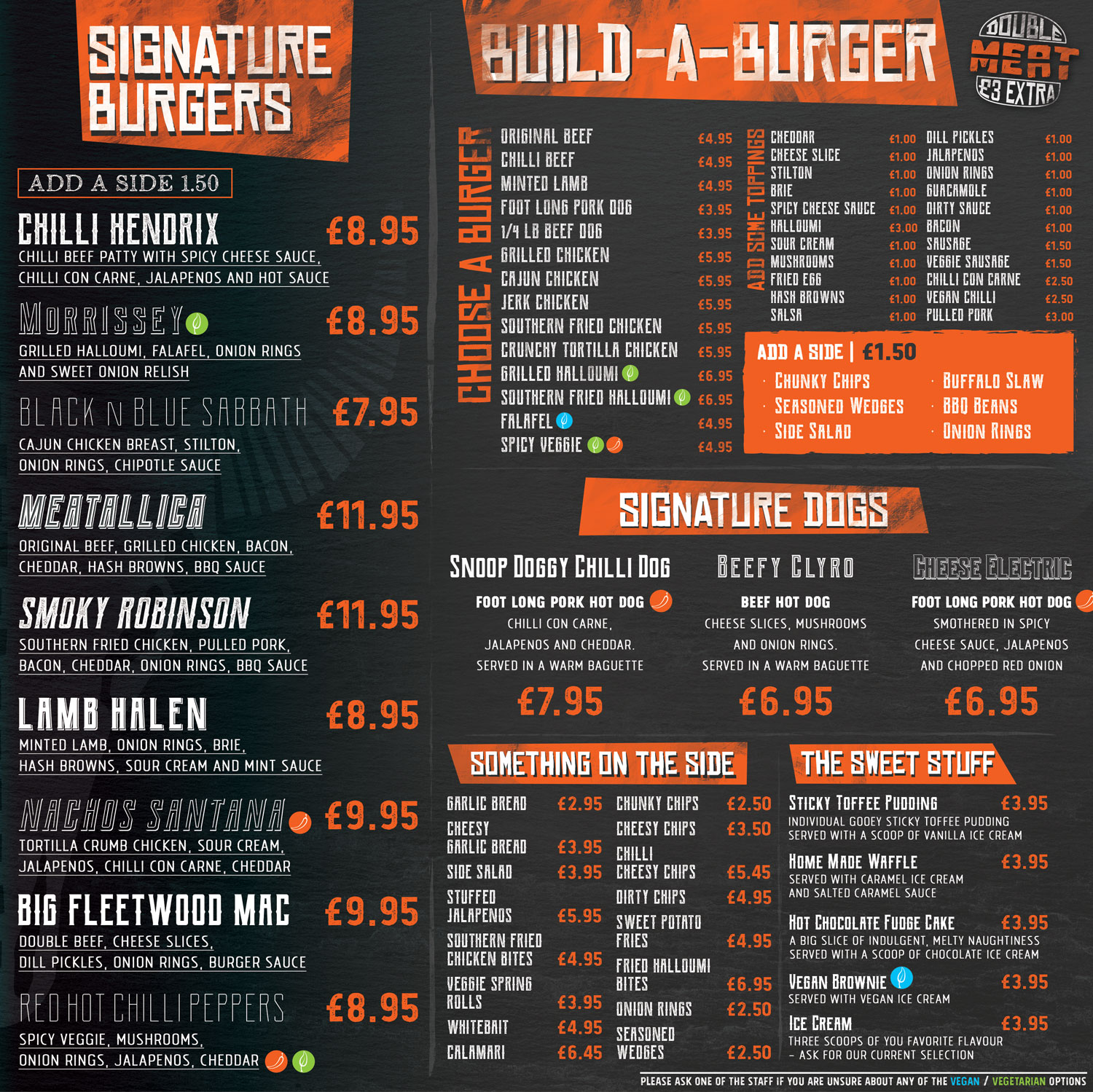 Buffalo Menu side B
